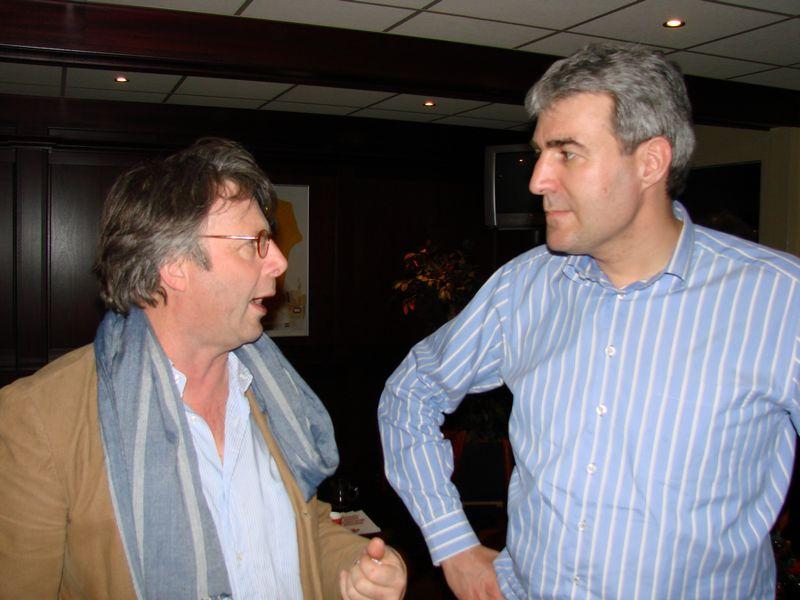 Jaco Cornelissen (Sparta Ermelo) in gesprek met Hans de Haan van VVD Ermelo