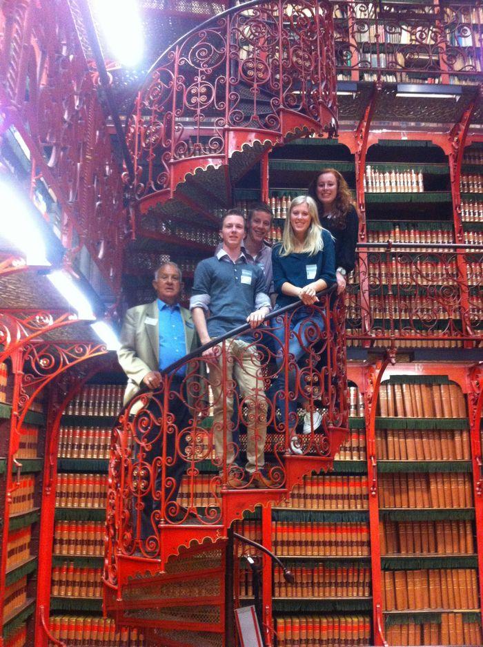 De bibliotheek van het parlement - Foto: Rijk Hammer